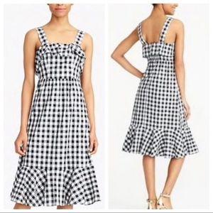 NWOT J.Crew Factory gingham ruffle dress!!